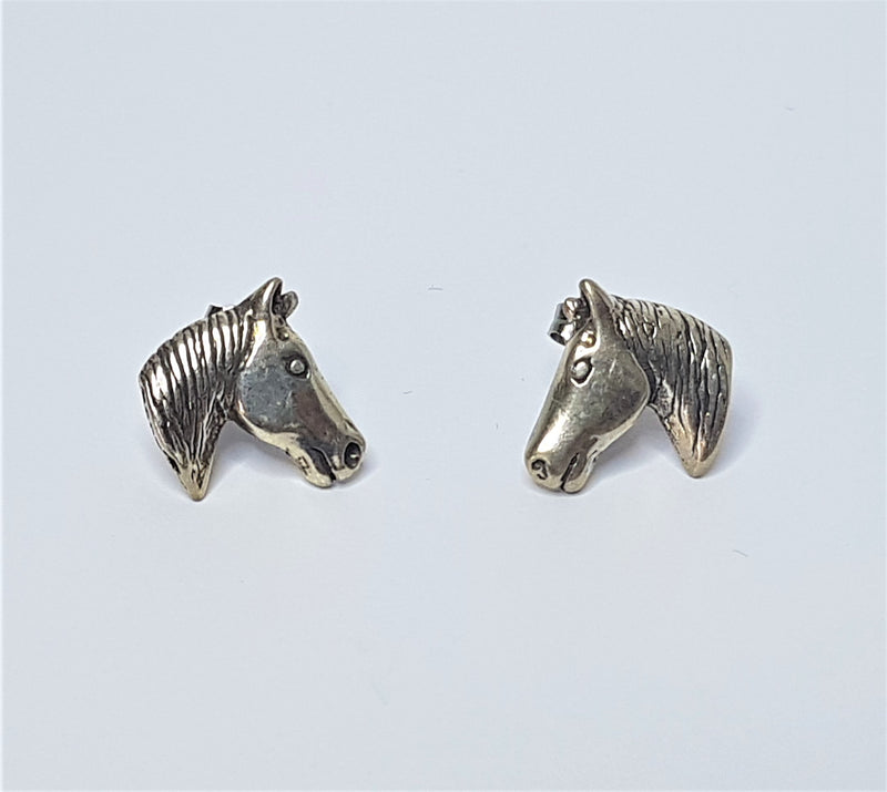 Horse Head Sterling Silver Studs