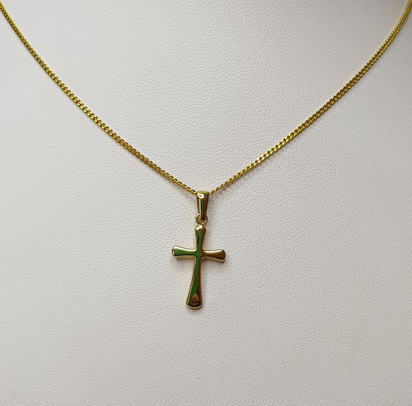 9ct Yellow Gold Cross Pendant