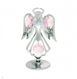 Crystocraft Silver Crystal Guardian Angel