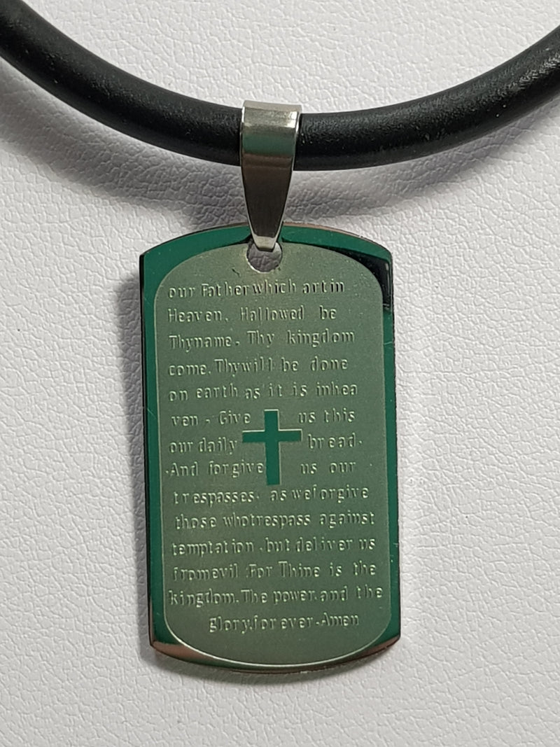 Lords Prayer Stainless Steel Pendant