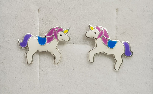 Unicorn Sterling Silver Studs