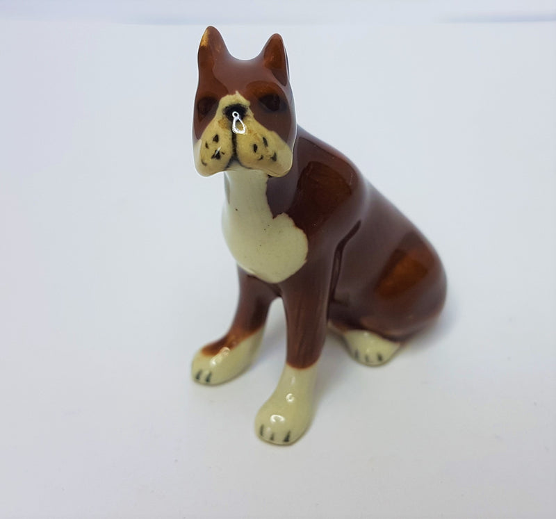 Boxer Ceramic Figurine - Brown