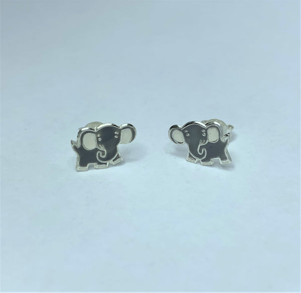 Grey Elephant Sterling Silver Studs