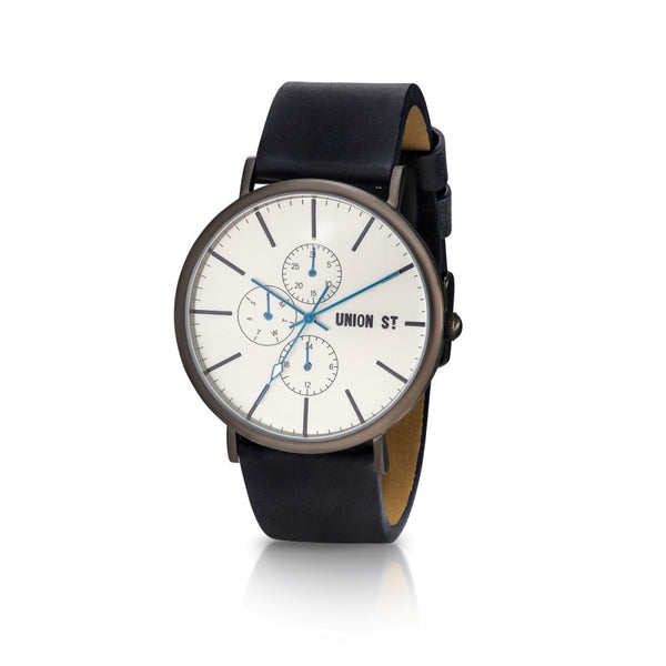 Union St Callum Silver Dial with Blue Strap Watch