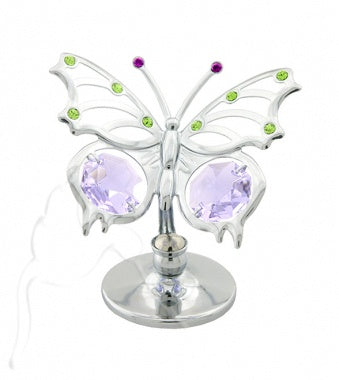 Crystal Mini Angelwing Silver Butterfly