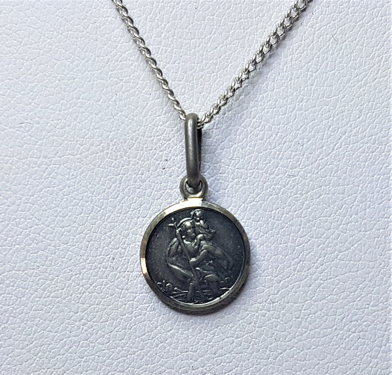 Saint Christopher Sterling Silver Pendant