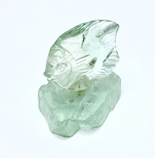 Carved Fluorite Fish