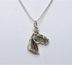 Horse Head Sterling Silver Pendant