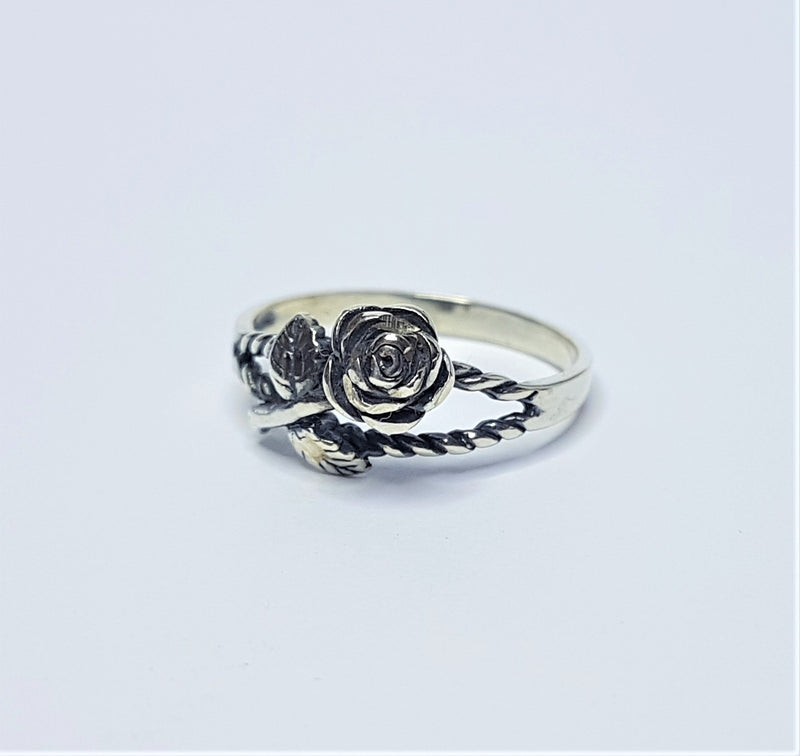 Rose Sterling Silver Ring