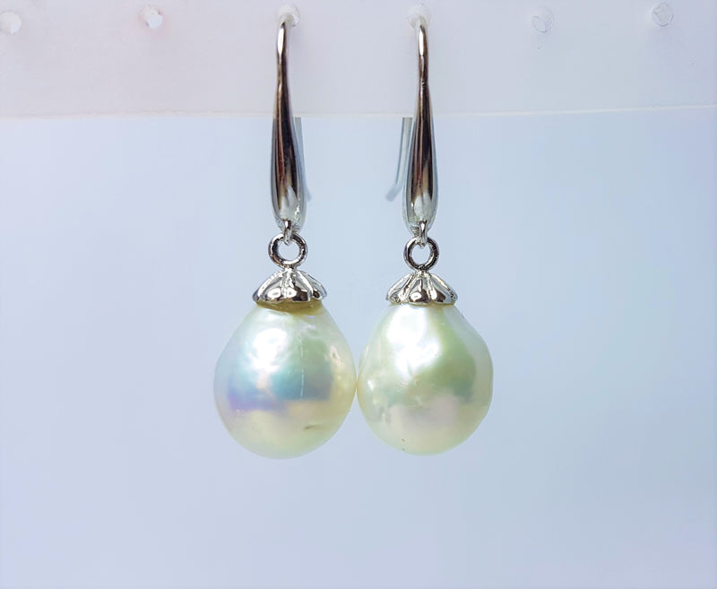 Fresh Water Pearl Drop Sterling Silver Hooks