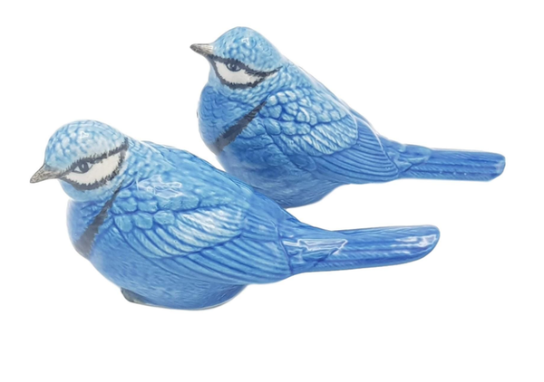 Blue Bird Ceramic Salt & Pepper Figurines