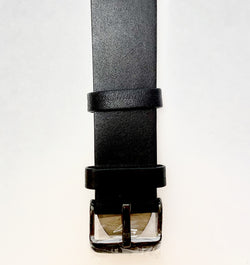 Union St Black Retro Leather Strap