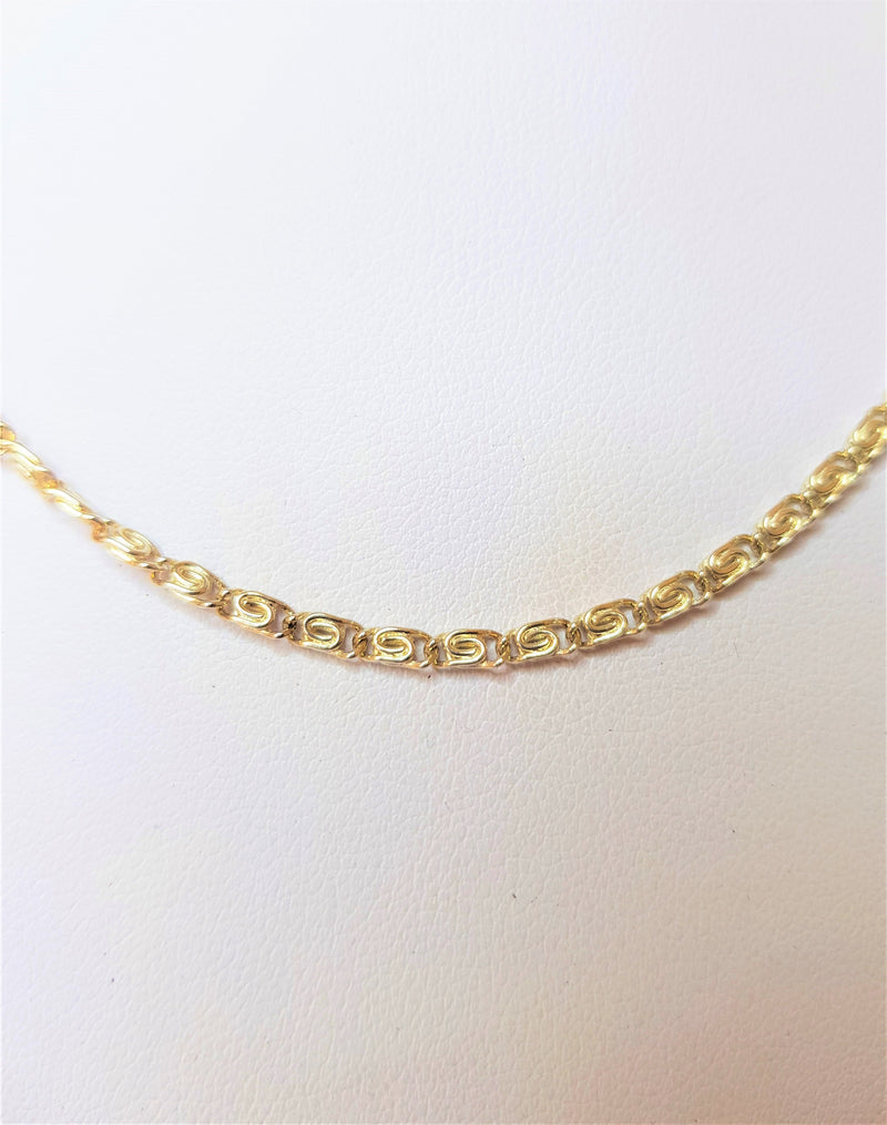 Sterling Silver Fancy Link 55cm Chain