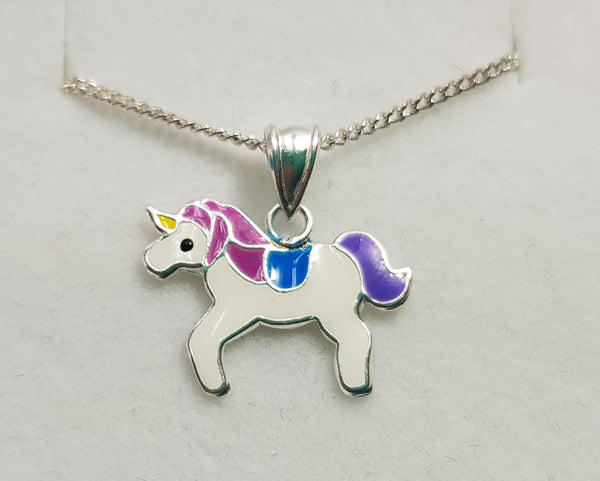 Unicorn Sterling Silver Pendant