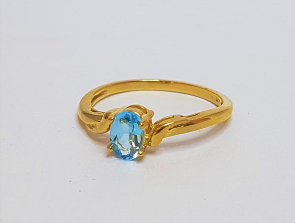 Oval Topaz 9ct Yellow Gold Ring