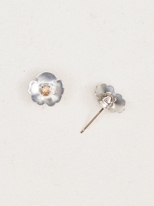 Viola Silver Crystal Sterling Silver Studs