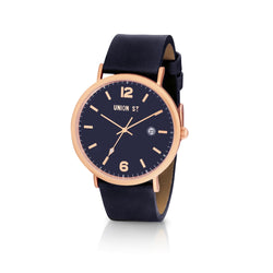 Union St Joshua Blue Dial and Navy Strap Watch