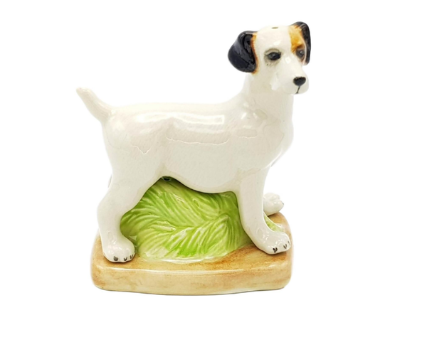 Standing Jack Russell Ceramic Figurine Salt & Pepper Shakers - 5cm High Approximately
