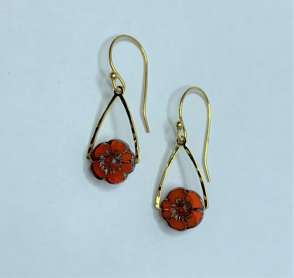 June Bug Chili Gold Earrings