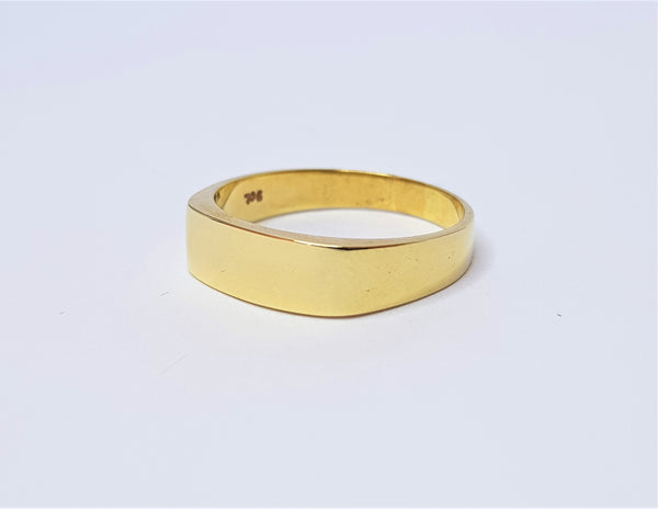 9ct Yellow Gold Plain Signet Ring
