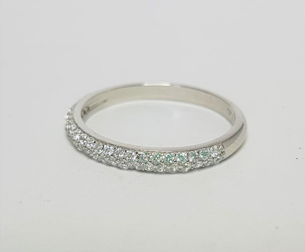 CZ Micropavee Wedder Sterling Silver Ring