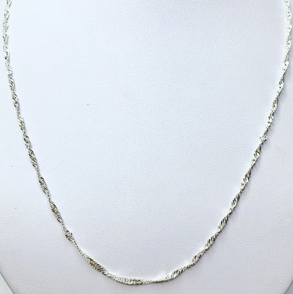 50cm Singapore (35) Sterling Silver Chain