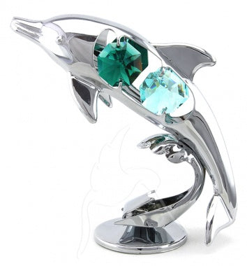 Crystal Dolphin Silver