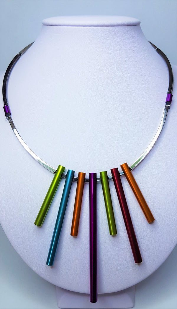 Coloured Tube Maematite Necklace