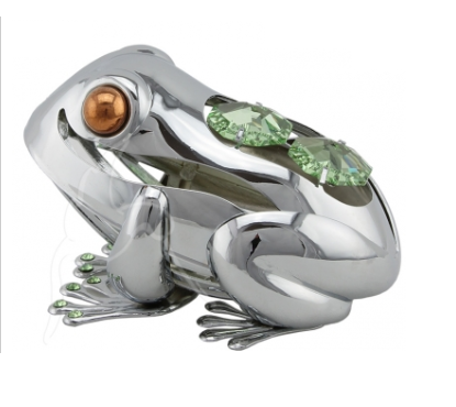 Crystocraft Silver Crystal Lucky Frog