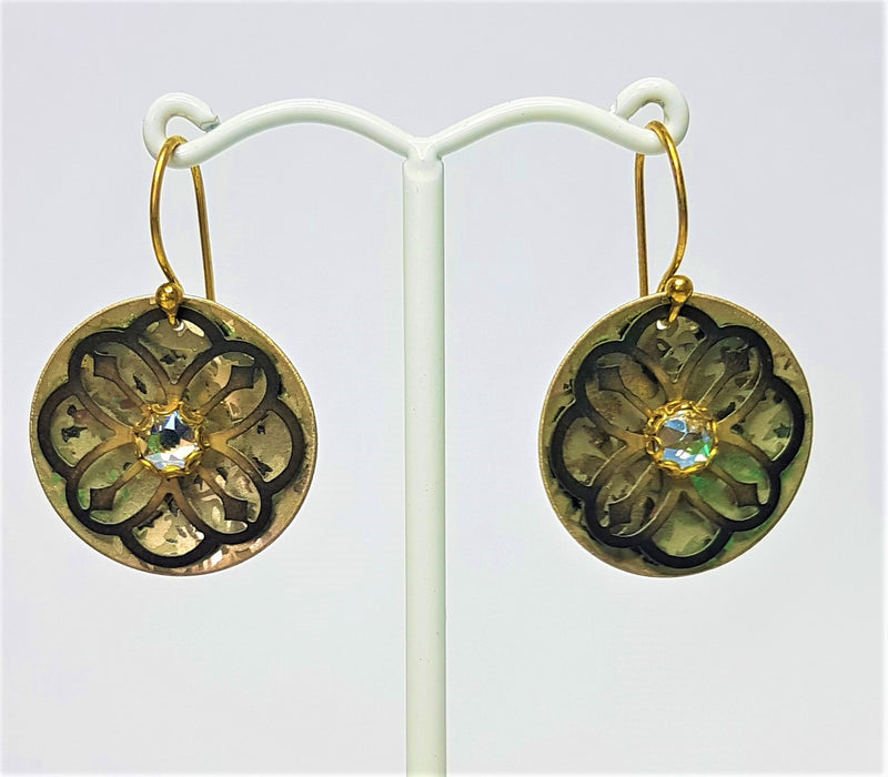 Abbey Antiqued Gold/Silver Earrings