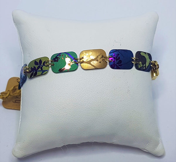 Garden Delight Multi Coloured Gold Bracelet