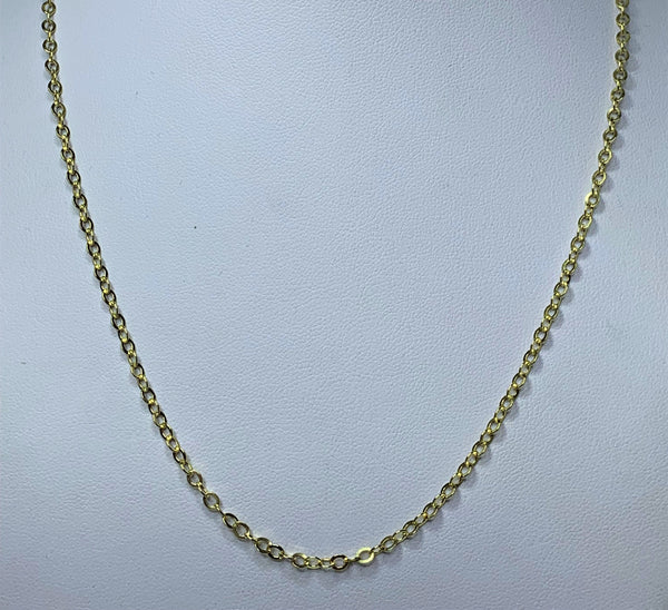 9ct Yellow Gold Rolo Chain