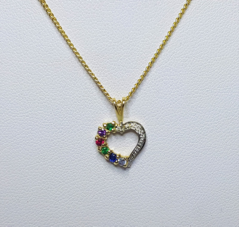 9ct Yellow Gold Dearest Heart Pendant