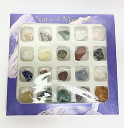 Natural Minerals Collection Box