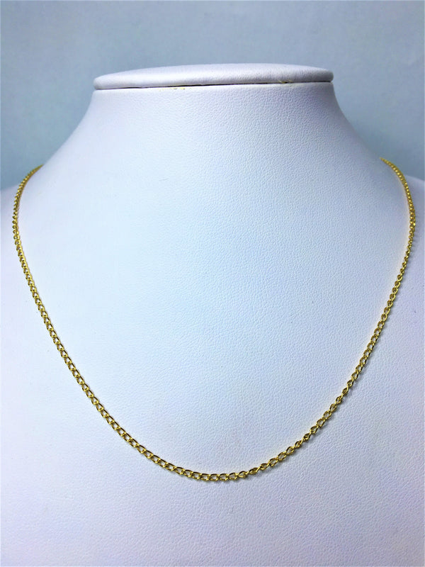 9ct Yellow Gold Curb 43cm Chain