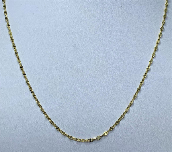 9ct Yellow Gold Diamond Cut Marina Chain