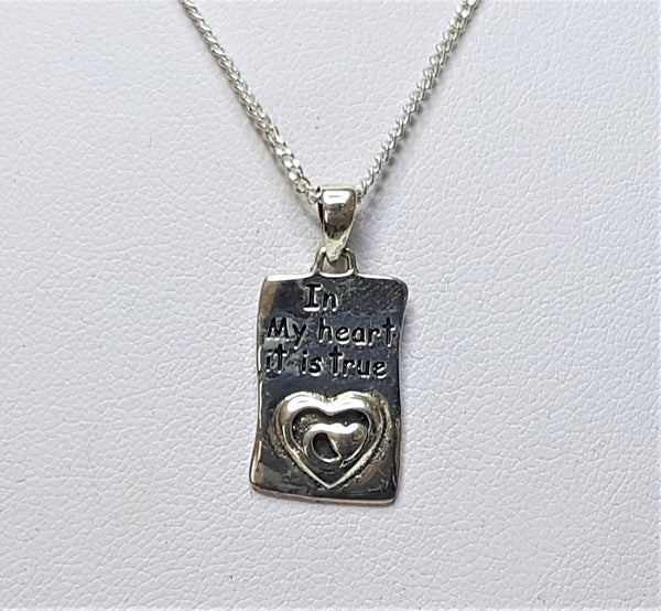 'In My Heart' Sterling Silver Pendant