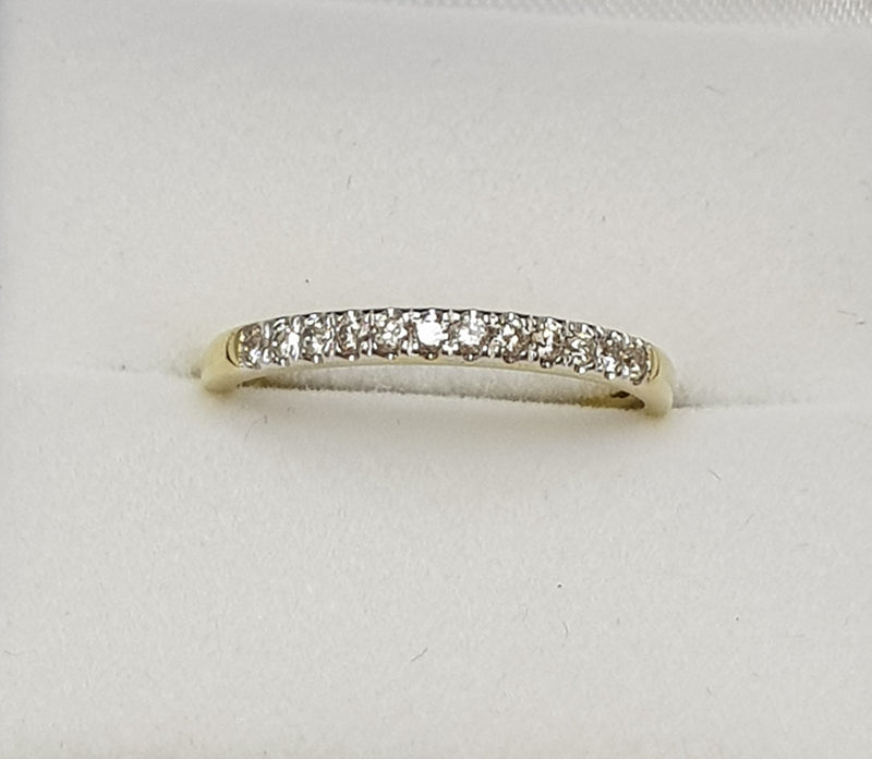 10ct Yellow Gold Diamond Set Wedder