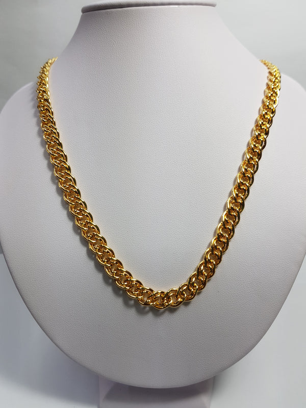 Double Link Gold Plate Chain