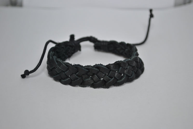 Leather Bracelet - Black