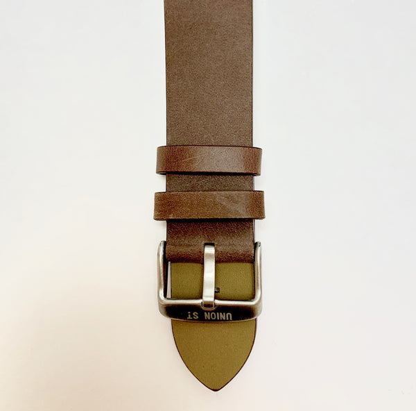 Union St Brown Retro Leather Strap