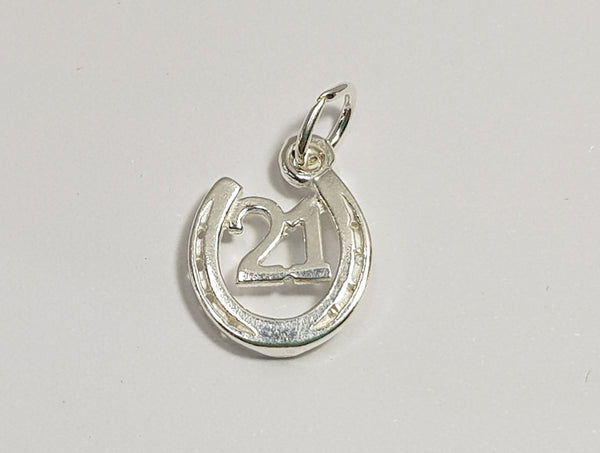 21 Horseshoe Sterling Silver Charm