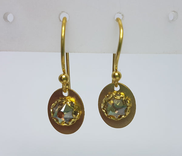 Julia Gold Champagne Earrings