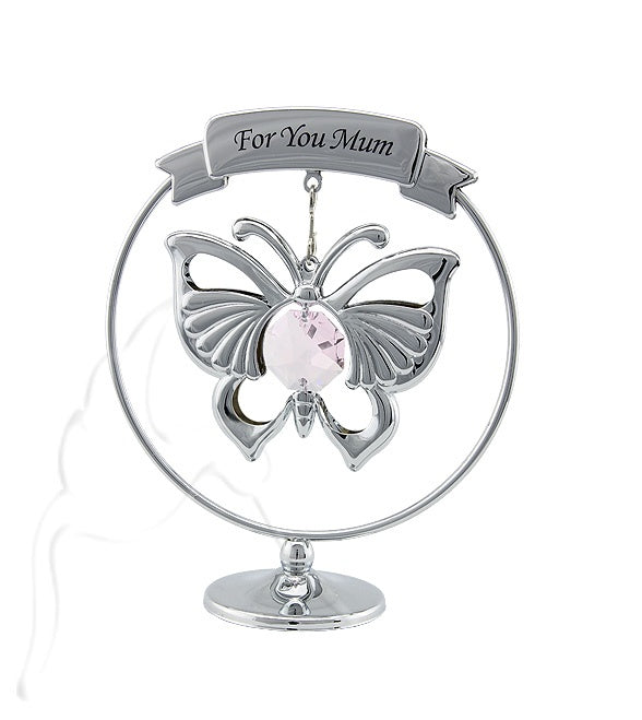 "Crystocraft Emperor Butterfly ""For You Mum"" - Silver"