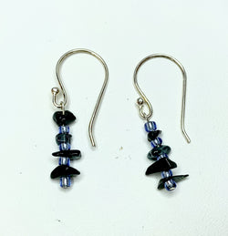 Blue Tourmaline Shepherd Hooks