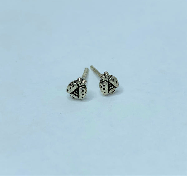 Sterling Silver Lady Beetle Studs