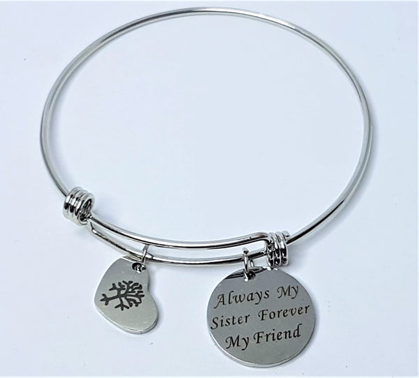'Always My Sister Forever My Friend' Bangle