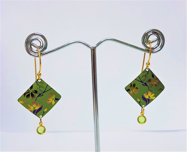 Garden Sonnet Green Gold Earrings