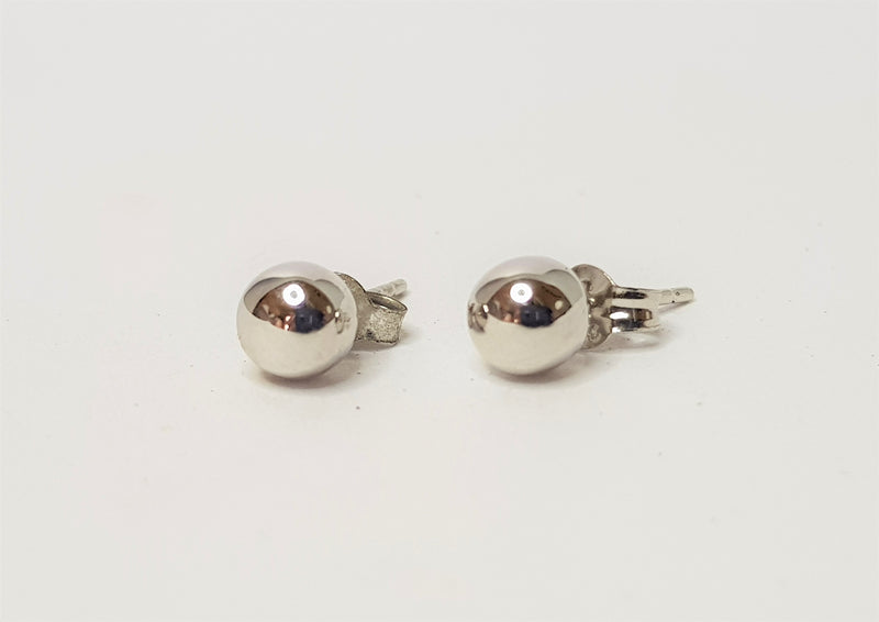 9ct White Gold 4mm Ball Studs