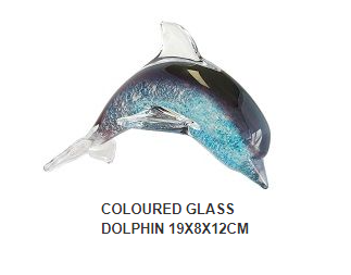 Multi Colour Glass Dolphin